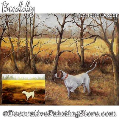 Buddy (Pointer Dog) Painting Pattern PDF DOWNLOAD - Annette Dozier