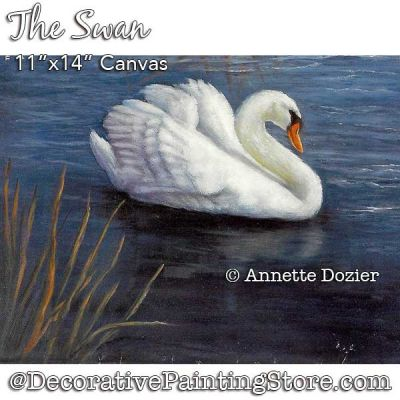 The Swan Painting Pattern PDF DOWNLOAD - Annette Dozier