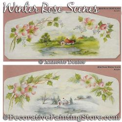 Wild Rose Scenes Painting Pattern PDF DOWNLOAD - Annette Dozier
