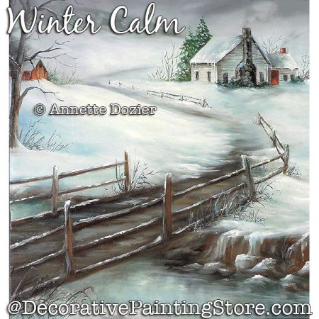 Winter Calm Painting Pattern PDF DOWNLOAD - Annette Dozier