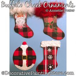 Buffalo Check Ornaments Painting Pattern PDF DOWNLOAD - Annette Dozier