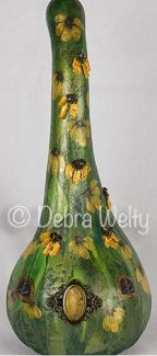 Black-eyed Susan Fairy House Gourd e-Pattern DOWNLOAD