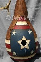 Patriotic Birdhouse Gourd e-Pattern DOWNLOAD