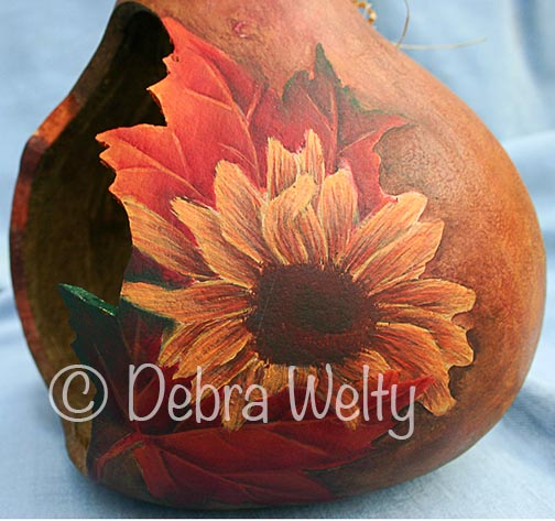 Sunflowers & Butterfly Gourd e-Pattern DOWNLOAD