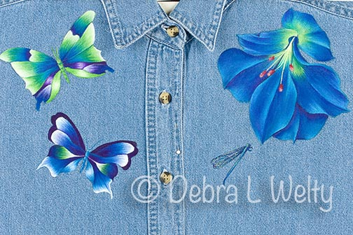 Vibrant Trio Denim Shirt Pattern