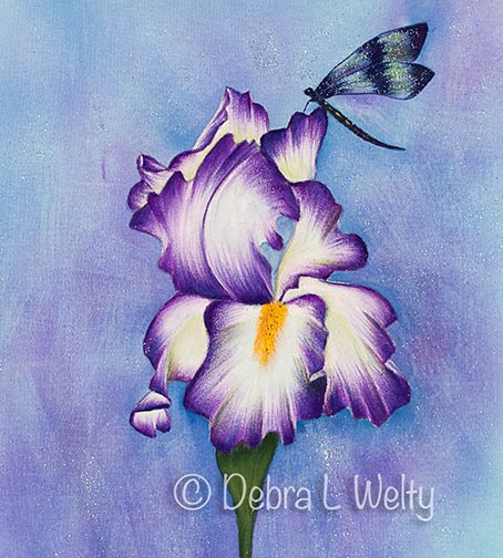 Purple Iris and Dragonfly e-Pattern DOWNLOAD