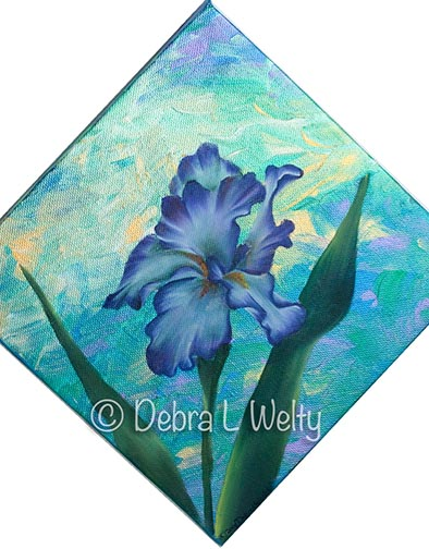 Impressions of Iris in Oils e-Pattern DOWNLOAD