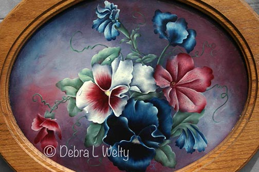 Pansies and Petunias in Oils e-Pattern DOWNLOAD
