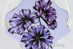 Purple Cosmos in Pen & Ink and Oils e-Pattern DOWNLOAD