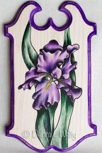 Purple Iris in Pen & Ink and Oils Pattern
