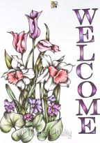 Spring Banner in Pen & Ink and Oils e-Pattern DOWNLOAD