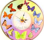 Butterfly Clock in Oils e-Pattern DOWNLOAD