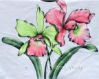 Tropical Orchids in Pen & Ink on Fabric e-Pattern DOWNLOAD
