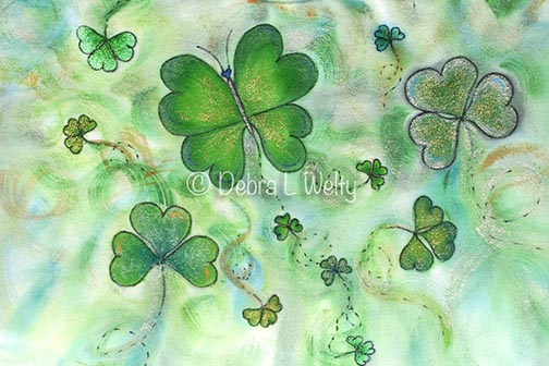 Fluttering Shamrocks on Fabric e-Pattern DOWNLOAD
