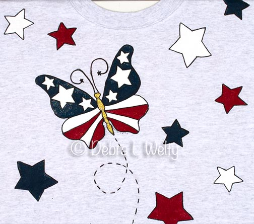 Patriotic Butterfly Fabric e-Pattern DOWNLOAD