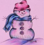 Sherbet Snowman Fabric e-Pattern DOWNLOAD