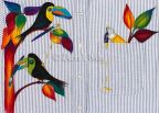 Glistening Toucans Fabric e-Pattern DOWNLOAD