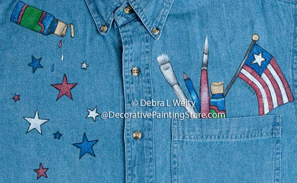 All American Artist Fabric Pattern BY DOWNLOAD
