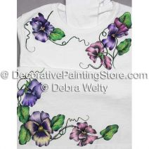 Pansies in Pen & Ink on Fabric e-Pattern - Debra Welty - PDF DOWNLOAD
