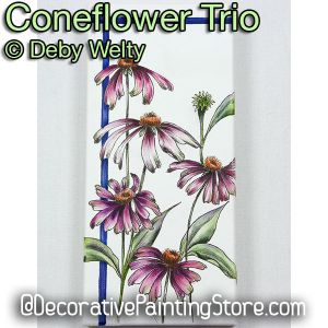 Coneflower Trio e-Pattern - Debra Welty - PDF DOWNLOAD