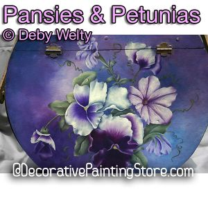 Pansies and Petunias e-Pattern - Debra Welty - PDF DOWNLOAD