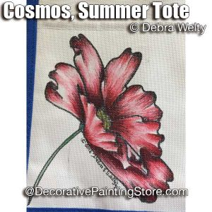 Cosmos Summer Tote e-Pattern - Debra Welty - PDF DOWNLOAD