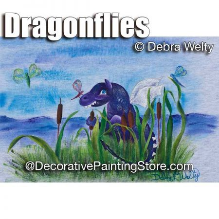 Dragonflies e-Pattern - Debra Welty - PDF DOWNLOAD