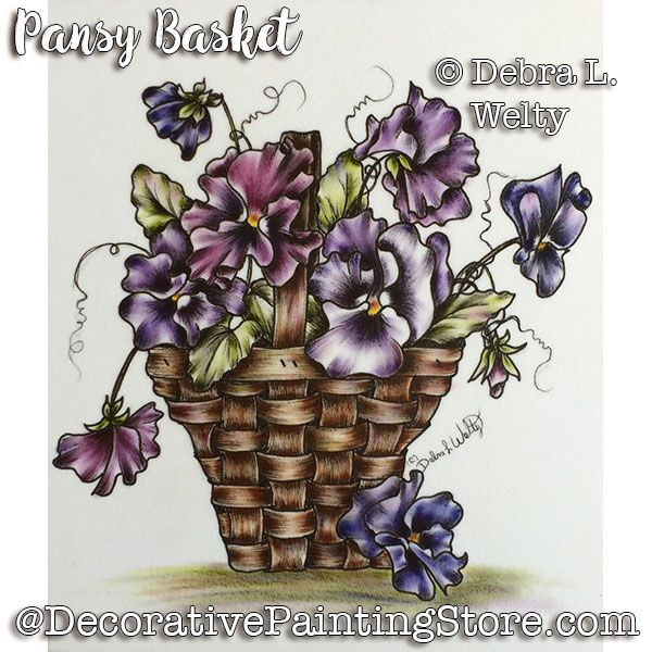 Pansy Basket e-Pattern - Debra Welty - PDF DOWNLOAD