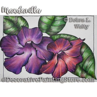 Mandavilla e-Pattern - Debra Welty - PDF DOWNLOAD