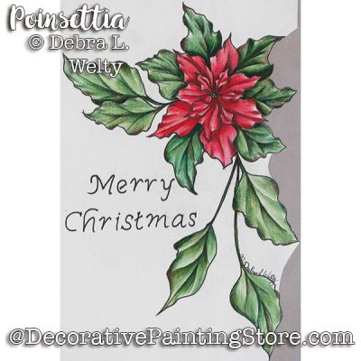 Poinsettia Banner e-Pattern - Debra Welty - PDF DOWNLOAD