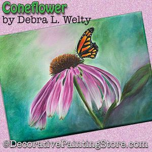 Coneflower (and butterfly) PDF DOWNLOAD - Debra Welty