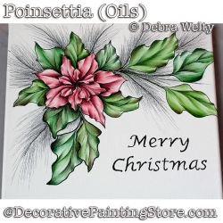 Poinsettia (Oils) DOWNLOAD - Debra Welty