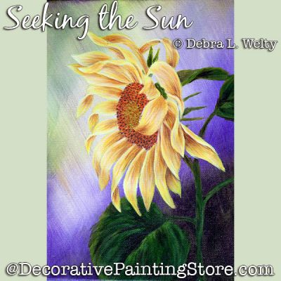 Seeking the Sun Painting Pattern DOWNLOAD - Debra Welty
