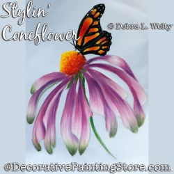 Stylin Coneflower Painting Pattern DOWNLOAD - Debra Welty
