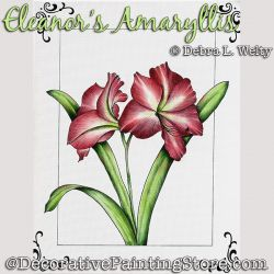 Amaryllis Painting Pattern DOWNLOAD - Debra Welty