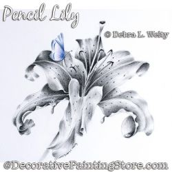 Pencil Lily Painting Pattern DOWNLOAD - Debra Welty
