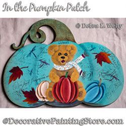 In the Pumpkin Patch Teddy Bear Painting Pattern DOWNLOAD - Debra Welty