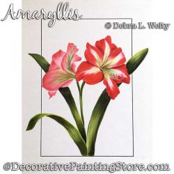 Amaryllis Painting Pattern PDF DOWNLOAD - Debra Welty