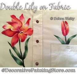 Double Lily Fabric Painting Pattern PDF DOWNLOAD - Debra Welty