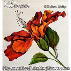 Hibiscus Media Fluid Painting Pattern PDF DOWNLOAD - Debra Welty