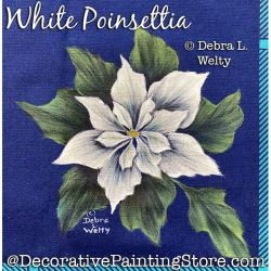 White Poinsettia Fabric Painting Pattern PDF DOWNLOAD - Debra Welty
