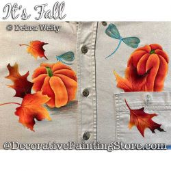 Its Fall Fabric Painting Pattern PDF DOWNLOAD - Debra Welty