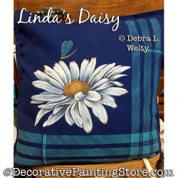 Lindas Daisy Fabric Painting Pattern PDF DOWNLOAD - Debra Welty