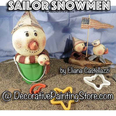 Sailor Snowmen ePattern - Eliana Castellazzi - PDF DOWNLOAD