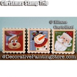 Christmas Stamp Trio ePattern - Eliana Castellazzi - PDF DOWNLOAD