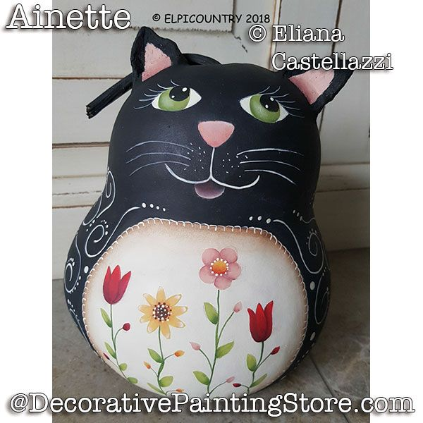 Ainette Black Cat Gourd ePattern - Eliana Castellazzi - PDF DOWNLOAD
