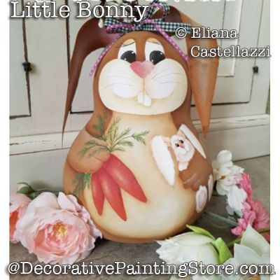 Little Bonny Bunny Rabbit Gourd ePattern - Eliana Castellazzi - PDF DOWNLOAD