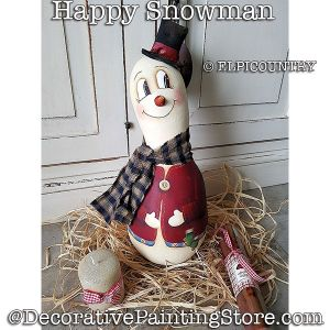 Happy Snowman Gourd Download - Eliana Castellazzi