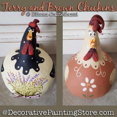 Terry and Brown Chickens Gourd ePattern - Eliana Castellazzi - PDF DOWNLOAD