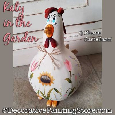 Katy in the Garden (Chicken) Gourd ePattern - Eliana Castellazzi - PDF DOWNLOAD